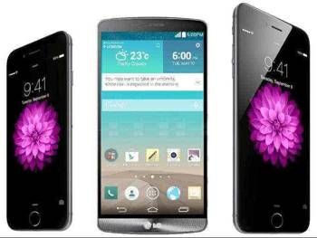 6 vs. Iphone LG G3 comparar