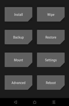 Recuperação do TWRP como instalar o firmware do Cagabi One
